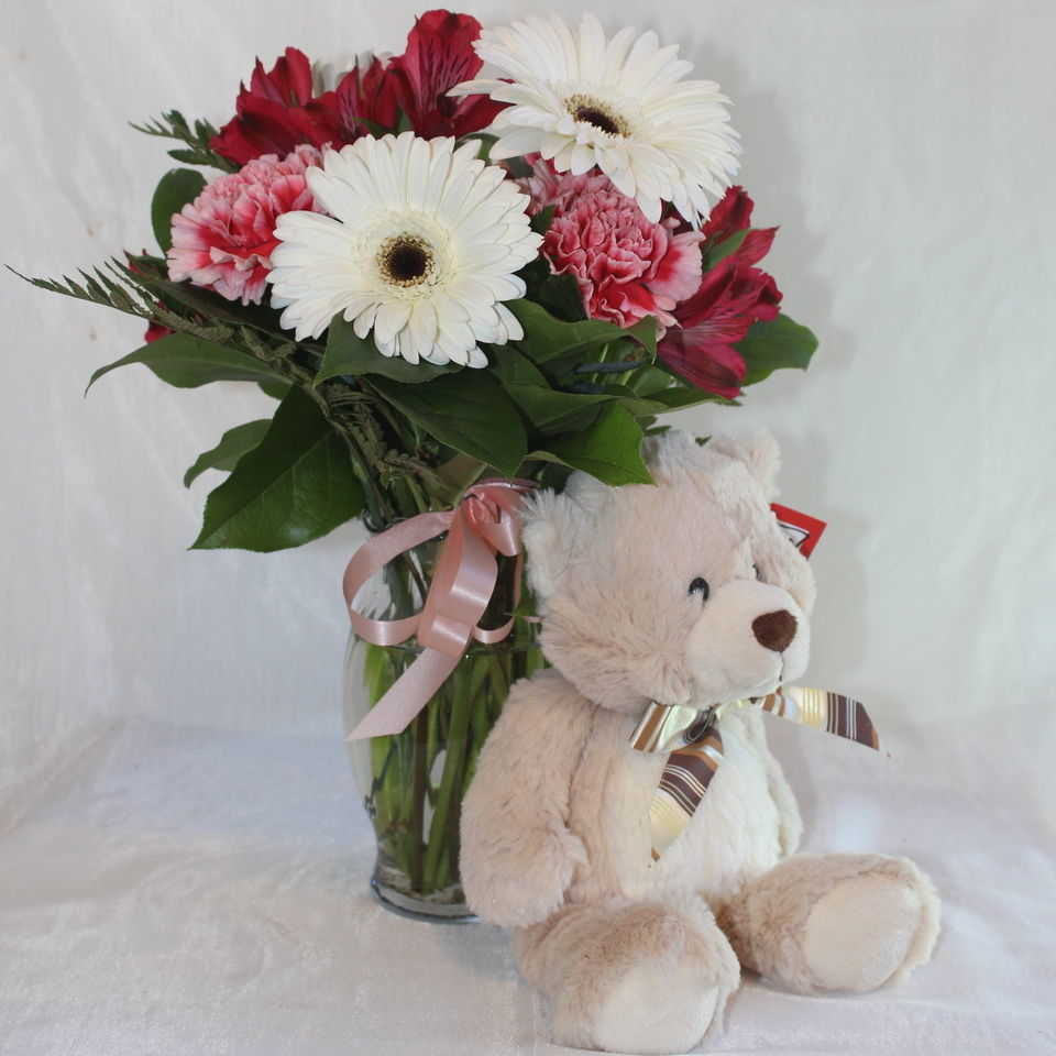 Be Mine Bouquet and Bear