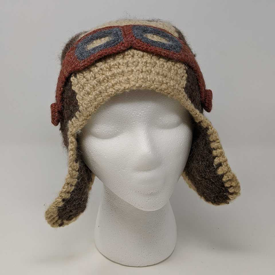 Cream Aviator Hat