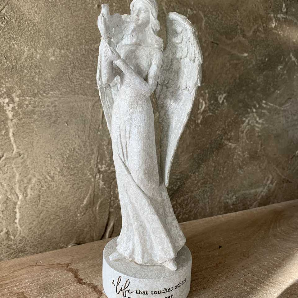Memorial Angel with Bird