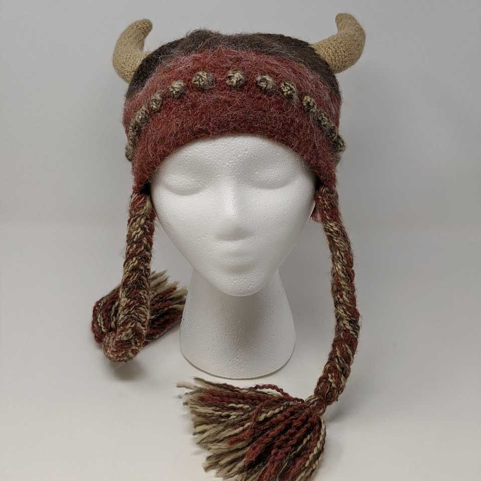 Burgundy Viking Hat