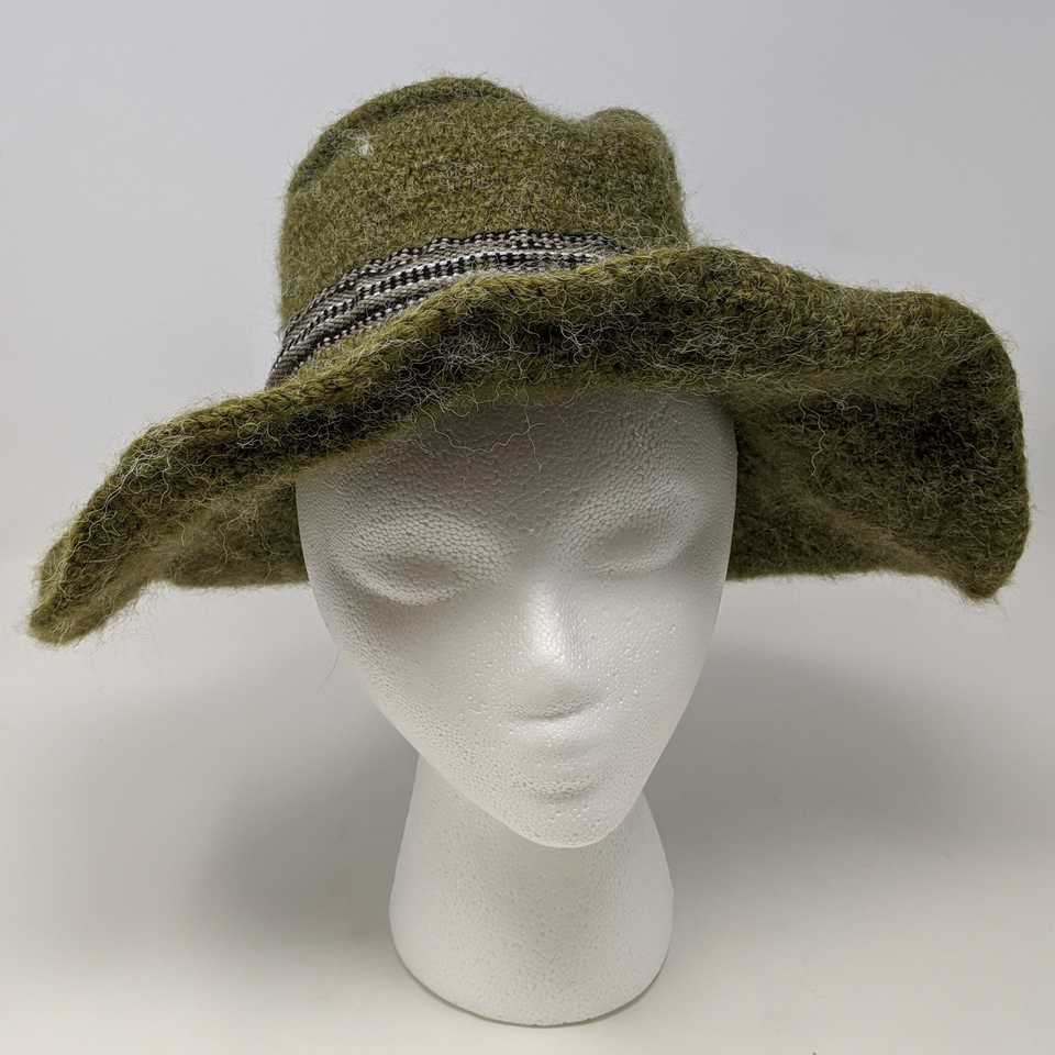 Green Wide-Brimmed Hat